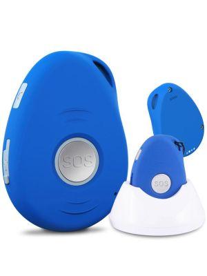 Bip appel urgence personnes âgées Basic Sympa 2 bleu