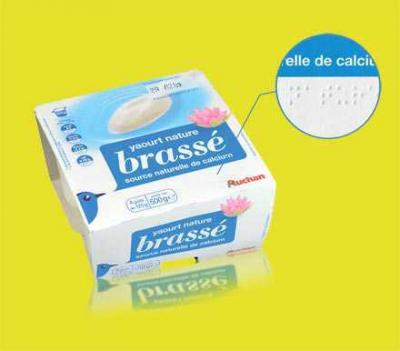 Auchan se lance dans le packaging alimentaire en braille !