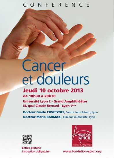"""Conférence """"Cancer et douleurs"""" le 10 octobre 2013"""