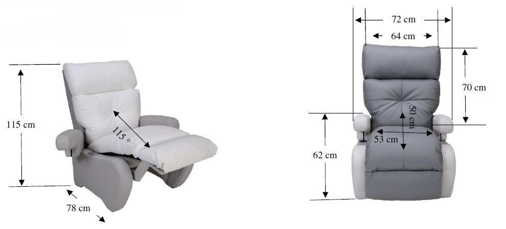 Dimensions du fauteuil de relaxation No Stress